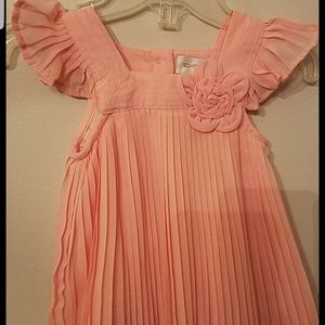 Other - New Pleated Peach Dress 3 - 6 Months Baby Girl